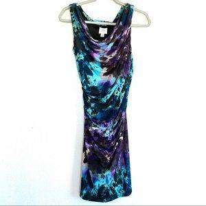 Suzi Chin Maggy Boutique Ruched Floral Midi Dress